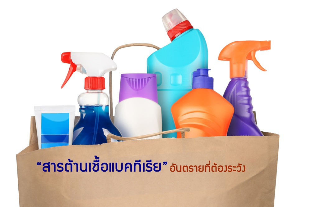 23000487 - bag with detergent bottles isolated on white background